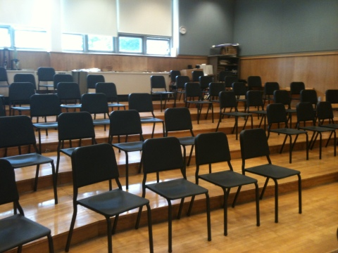 Wenger Chairs in choir room Day 1!