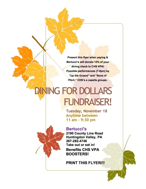 Dining for Dollars flyer
