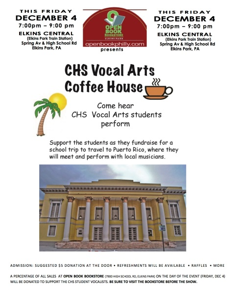 Coffeehouse Flyer PR Dec 4