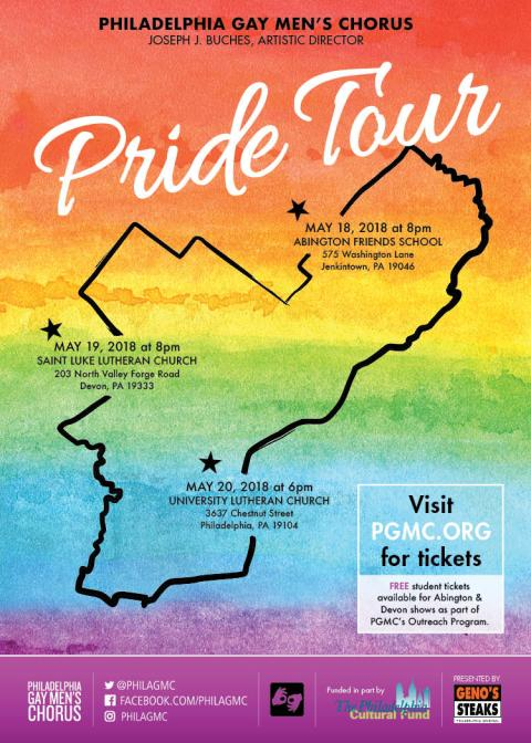 Free Tickets Available For Students To >> Free Student Tickets Philadelphia Gay Men S Chorus On May 18